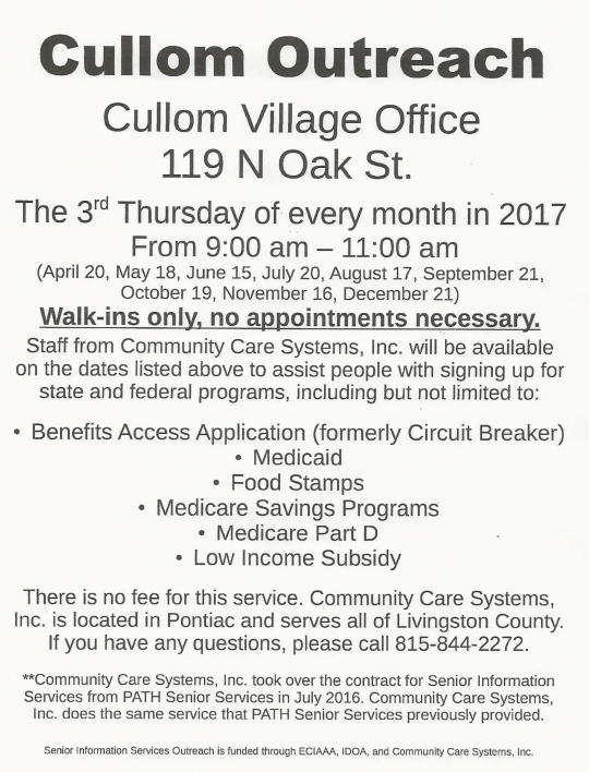 Cullom Outreach