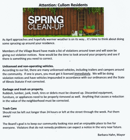 2018 Spring Clean Up