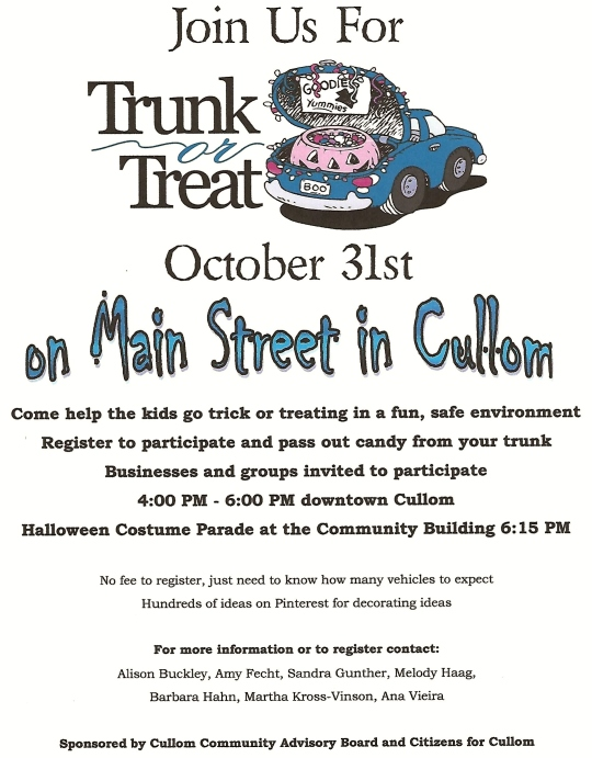 CAB trunk treat poster