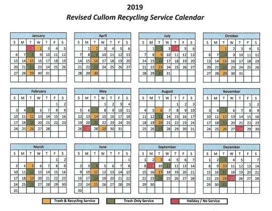 2019 Recycling Calendar1