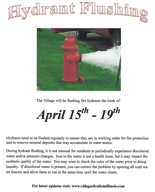 Hydrant Flushing 2019