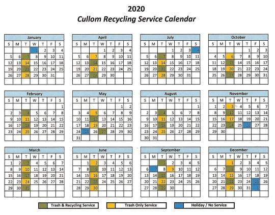 2020 CORRECTED calendar